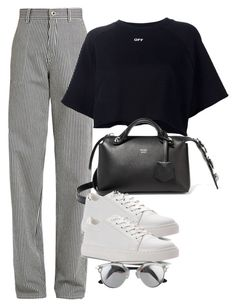 """Untitled #3010"" by camilae97 ❤ liked on Polyvore featuring Chloé, Off-White, Fendi and Kenneth Cole"