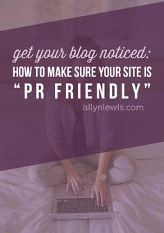 How to Set up a PR Friendly Blog // allynlewis.com
