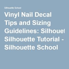 Vinyl Nail Decals A Profitable Summer Product With Free - How to make vinyl nail decals with cricut