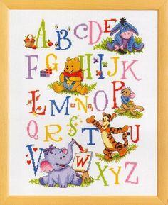 patron abecedario punto cruz   Aprender manualidades es facilisimo.