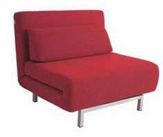 LK06 Red Convertible Twin Chair Bed by J&M