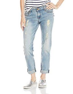 Every girl needs a good pair of boyfriend jeans.