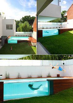 Amazing above ground pool in Argentina.