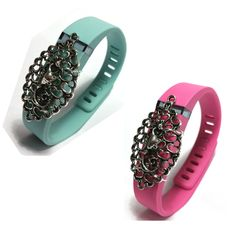 2pcs Fashion Wristband for Fitbit Flex with Clasp Wireless Activity-fitness Band Bling Accessory- Dress Outfit. 2 traditional band + 2 Bling Accessory. Dress your Fitbit? Flex band with fashion bling. Easy to slip on and off you band. simplely switch the detachable bling accessory to bands of other color. unlimited combination. Used for sports & sleep band. fashion gift for her for him. Having one clip. Chose the color to match your necklace clothes and style. PLEASE FASTEN SECURE THE...