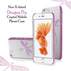 X-Fitted Apple iPhone Cover, Hard Plastic Back Cover Dragon Fly Case Crystal Rhinestone Decoration Bling with Diamond Ultrasonic Embedded Craft for Apple iPhone (Pink) Apple Iphone 6s Cover, Iphone 6 Back Cover, Iphone Case Covers, Latest Electronic Gadgets, Electronics Gadgets, Amazon Mobile, Crystal Mobile, Online Mobile, Mobile Covers