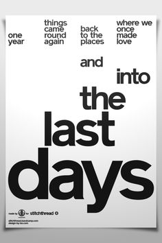 "Stitchthread ""Last Days"" - Poster 6"