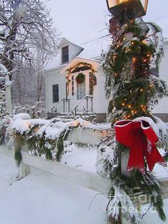 New England Christmas Photograph by Elizabeth Dow Christmas Scenes, Christmas Mood, Merry Little Christmas, Noel Christmas, Country Christmas, Christmas Lights, Christmas Decorations, Xmas, Christmas Ideas