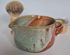 Stoneware Shaving Mug or Shave Bowl in Tan and by bluegreenartisan, $26.00