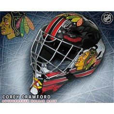 Corey Crawford Chicago Blackhawks Autographed and Inscribed Full-Size Goalie Mask - Autographed NHL Helmets and Masks ** See this great product.