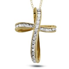 Designed in a fluid loop of continual beauty and impactful expression, this gold cross pendant defines resplendent with round diamonds twisting al. Diamond Loop Cross Pendant in Gold Zales Jewelry, Peoples Jewellers, Gold Chains For Men, Gold Cross, Necklace Designs, Cross Pendant, Fashion Necklace, Fashion Jewelry, Solid Gold