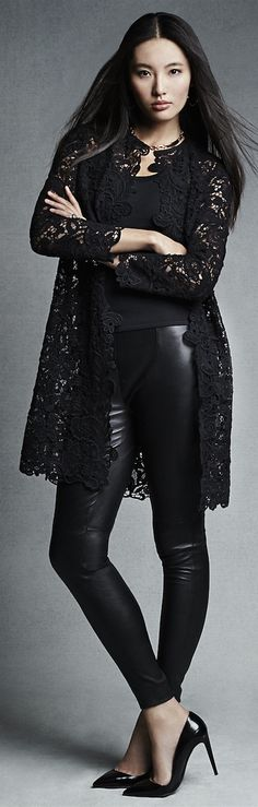 Ralph Lauren - Black Label Thora Lace Sweater Coat