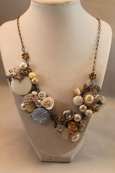 Steampunk statement necklace Somthing borrowed by CamillesCloset, $47.50