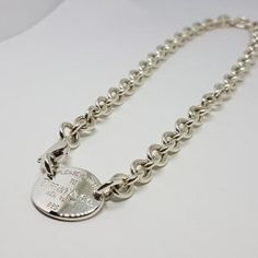 """Long 42 /"""" Sterling Silver Interlinked Ovals Necklace With Pearl Hallmarked"""