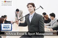 #Admission open for #MBA in Event & Sport Management. For more detail Visit:- http://teami.org/index.php/sports-management-courses #Education   #EventandSportManagement