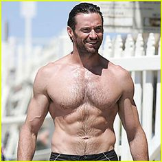 Hugh Jackman is exactly one month (to the day) older than I am.  With hard work I could have a body like that.
