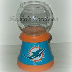 Miami Dolphins Candy Jar