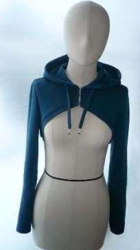 Free pattern: Cropped hooded bolero – Sewing