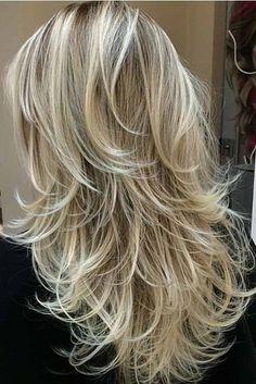 54 Super Ideas For Hairstyles Long Thin Hair Pictures - Hair Styles Hair Styles 2016, Medium Hair Styles, Curly Hair Styles, Hair Styles Long Layers, Hair Medium, Hair In Layers, Short Thin Hair, Long Hair Cuts, Bobs For Thin Hair