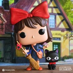 """Custom Kiki Funko Pop by John Lucas Reyes (@riverspoons.studios) on Instagram: """"""""I meet a lot of people, and at first, everything seems to be okay. But then, I start feeling like…"""" Funko Pop, Minnie Mouse"""