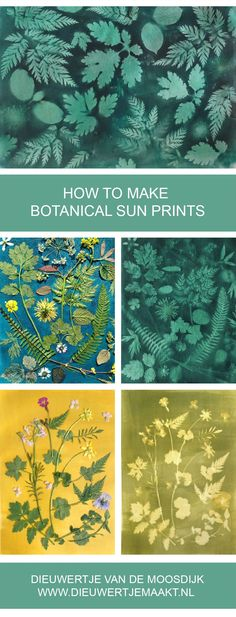 It's sun-printing season again! Here's a nice tutorial on a few different methods.