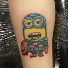 Captain Minion. | 37 Minion Tattoos That You'll Never Be Able To Unsee