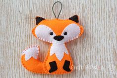 DIY Felt Fox - FREE Pattern / Tutorial