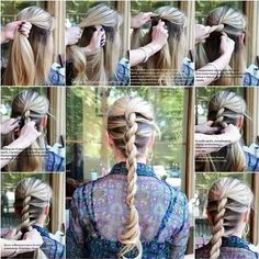 How to DIY Twisted Rope Braided hairstyle Pretty Hairstyles, Girl Hairstyles, Braided Hairstyles, Easy Hairstyle, Model Hairstyles, Wedding Hairstyles, Easy Updo, Fashion Hairstyles, Funky Hairstyles