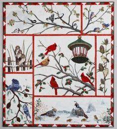 Audubon's Christmas Quilt Winter Birds AQS by AliceInStitchesArts