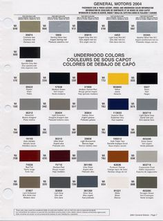 gm auto color chips | Color Chip Selection