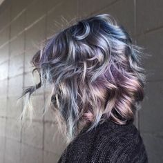 Image result for dark silver hair