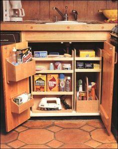 under kitchen sink storage ideas - Google Search