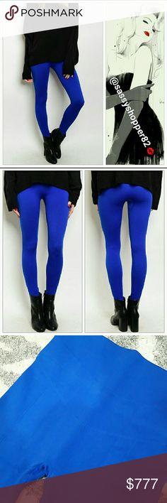 Spotted while shopping on Poshmark: Royal blue FLEECE lined leggings NWOT! #poshmark #fashion #shopping #style #Pants