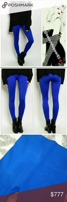 Royal blue FLEECE lined leggings NWOT Brand new no tags  Sassy Royal Blue fleece lined leggings. A season must have. Warm, cozy and sassy! Sexy details on front.  85%polyester15% spandex One size   💖Shop with confidence💖💖 🎉🎊Suggested User🎊🎉 📮💌Same day shipping📮💌 5🌟🌟🌟🌟🌟 star rated closet 👍👍Top seller👍👍 Pants Leggings
