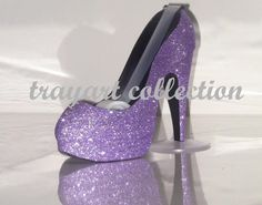 Lavender Purple sparkle High Heel Stiletto by trayartCollection, $25.50
