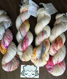 """Moon Pie Merino 75/25 Hand-Dyed Speckled Sock Yarn -463yds """"Sweet Tooth"""""""