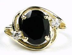 R021, Black Onyx, 10KY Gold Ring