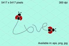 Love word - ladybugs by stockimagefolio on Vector Illustrations, Graphic Illustration, User Interface Design, Ladybugs, Love Words, Graphic Design, Creative, Words Of Love, Ladybug