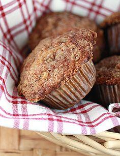 Apple Cinnamon muffins with greek yogurt! Yummy and high in protein.