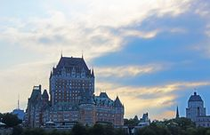 Quebec Ferry to Levis - The beautiful Chateau Frontenac