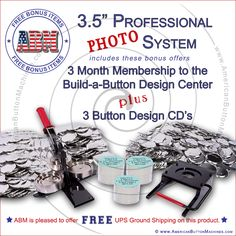 3.5 Inch Professional Paper/Photo Button Kit