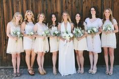 Still love this nuetral mis-matched look | Laid Back Cali Wedding: Juliann + Stephen