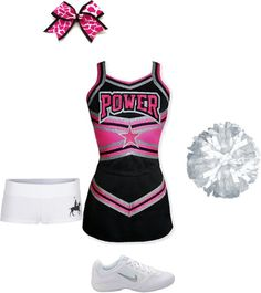 """""""cheer outfit #3"""" by maddieprater ❤ liked on Polyvore"""