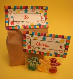 Candyland bag tags