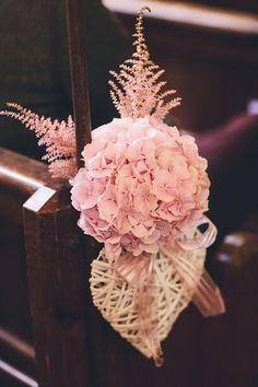 Astilbe & hydrangea pew end decoration - incorporate Sarah's pew end hearts? Resite hydrangeas & put in cubes for bar, bathroom areas