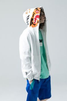 6295bbd821cc Stand out in BAPE s Reflector Shark Hoodie Jacket