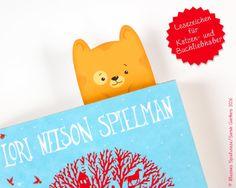 Papier & Pappe - Lesezeichen für Lesekatzen | Kater Miou - ein Designerstück von Illusine bei DaWanda