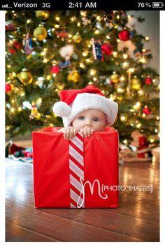 dog, baby, and Christmas lights - adorable Christmas card idea ...