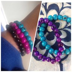 #newitemalert our #winzabracelet $23.95, available in 4 #colours is a great eye catching accessory made from #acaiseed n #peru and it stretches. Message me to order or shop online. oneearthbydanielle@gmail.com or www.facebook.com/oneearthbydanielle or www.one1earth.com/#_a_danielle.waite #one1earth #bepartofthechange #peoplehelpingpeople
