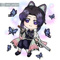 "PELPIN on Instagram: ""-Kimetsu no Yaiba- Chibi Shinobu Kochou . #shinobu #shinobukochou #chibishinobu #kimetsunoyaiba #demonslayer #chibihashira #anime #fanart…"" Chibi, Fanart, Anime, Instagram, Fan Art, Cartoon Movies, Anime Music, Anime Shows"