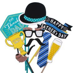 Free Printable Father's Day Photo Booth Props